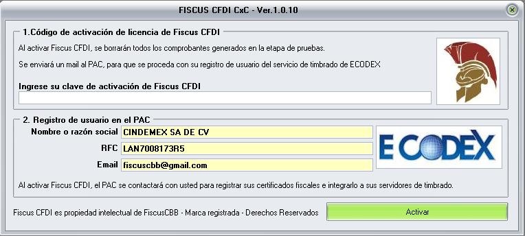Licencia de usuario Fiscus CFDI 3.3 Cuentas Claras