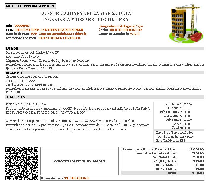 Fiscus CFDI 3.3 – Obra Pública – 0.05 y 0.02 al Millar